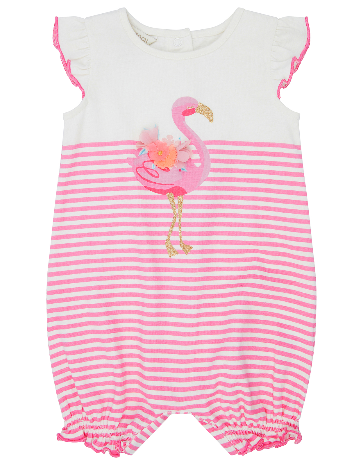 Monsoon Newborn Baby Lila Flamingo Romper