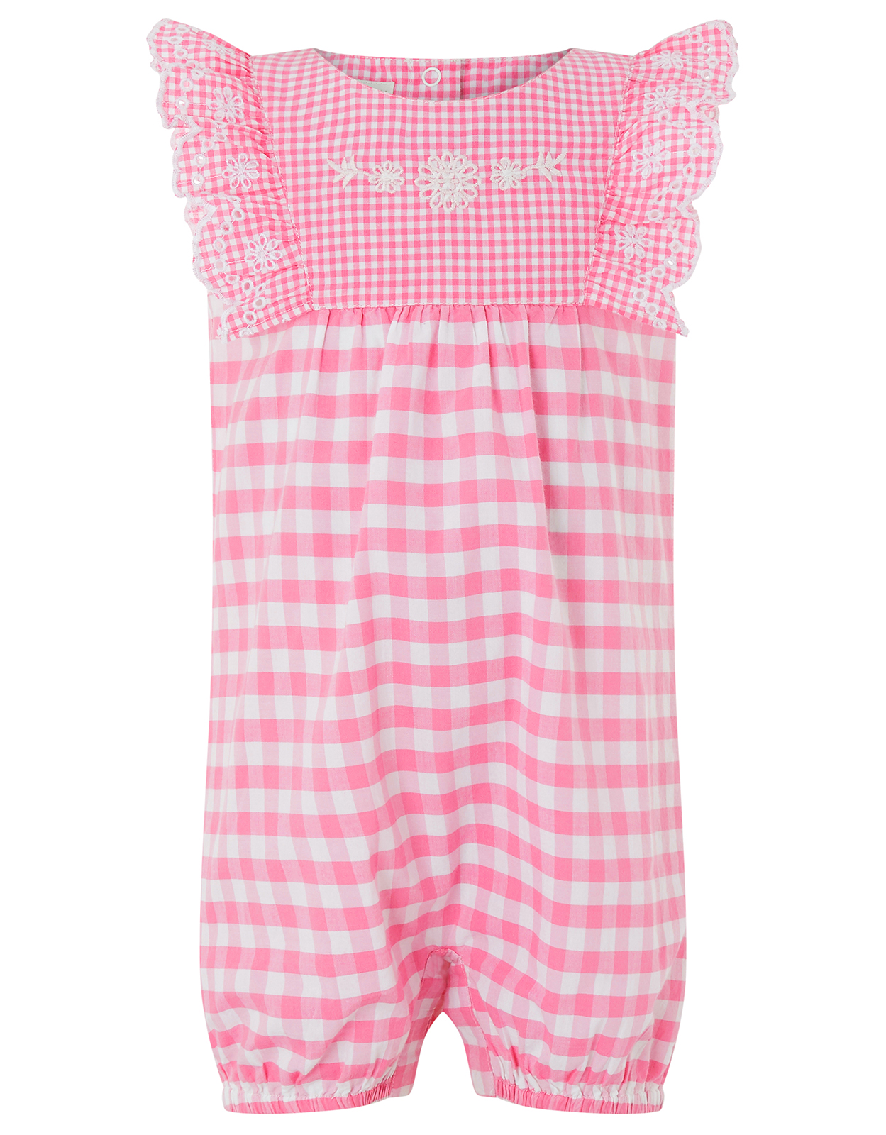 Monsoon Newborn Baby Gracie Gingham Romper