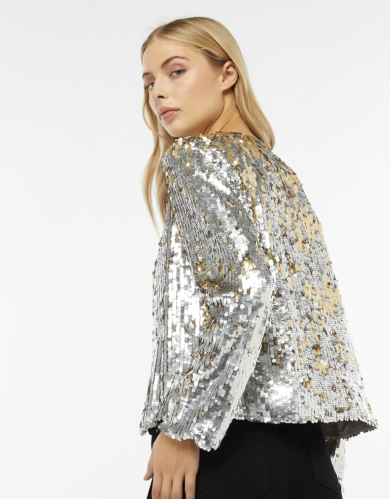 Monsoon Juliet Sequin Jacket