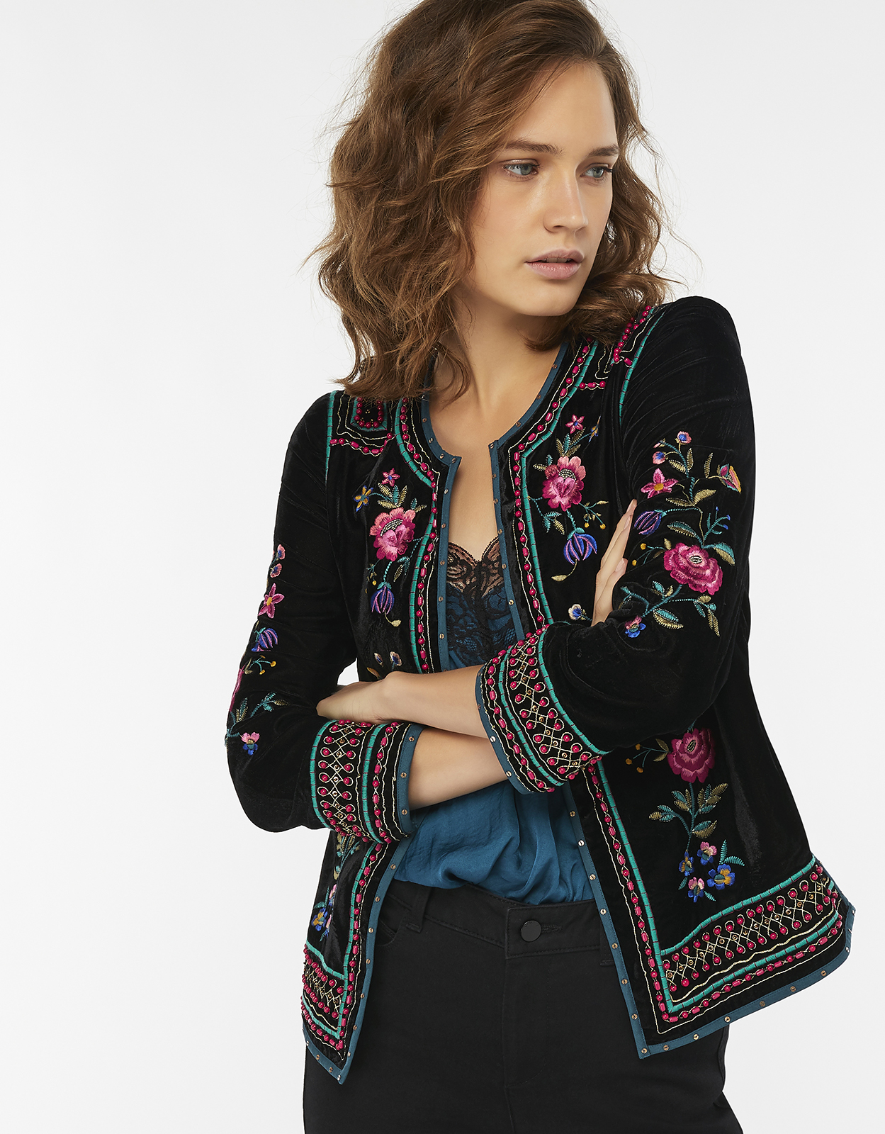 Monsoon Frankie Embroidered Jacket