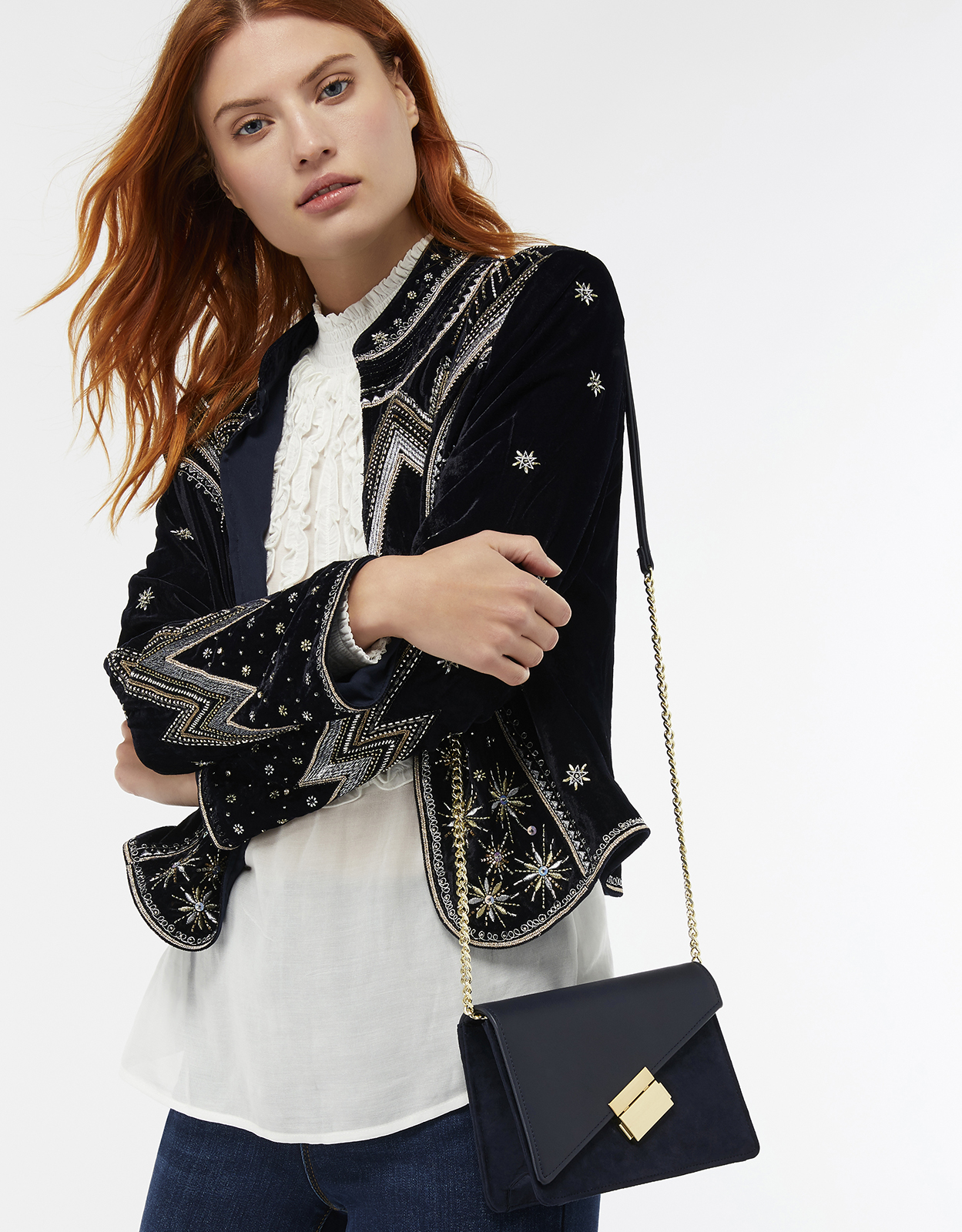 Monsoon Annabel Asymmetric Flap Cross-Body Bag