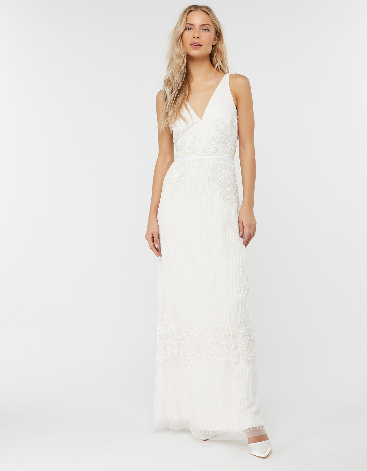 Monsoon Margaret Embellished Maxi Wedding Dress
