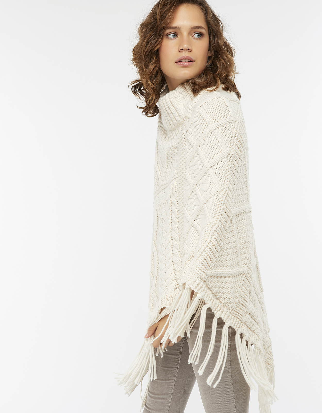 Monsoon Clelia Cable Knit Poncho