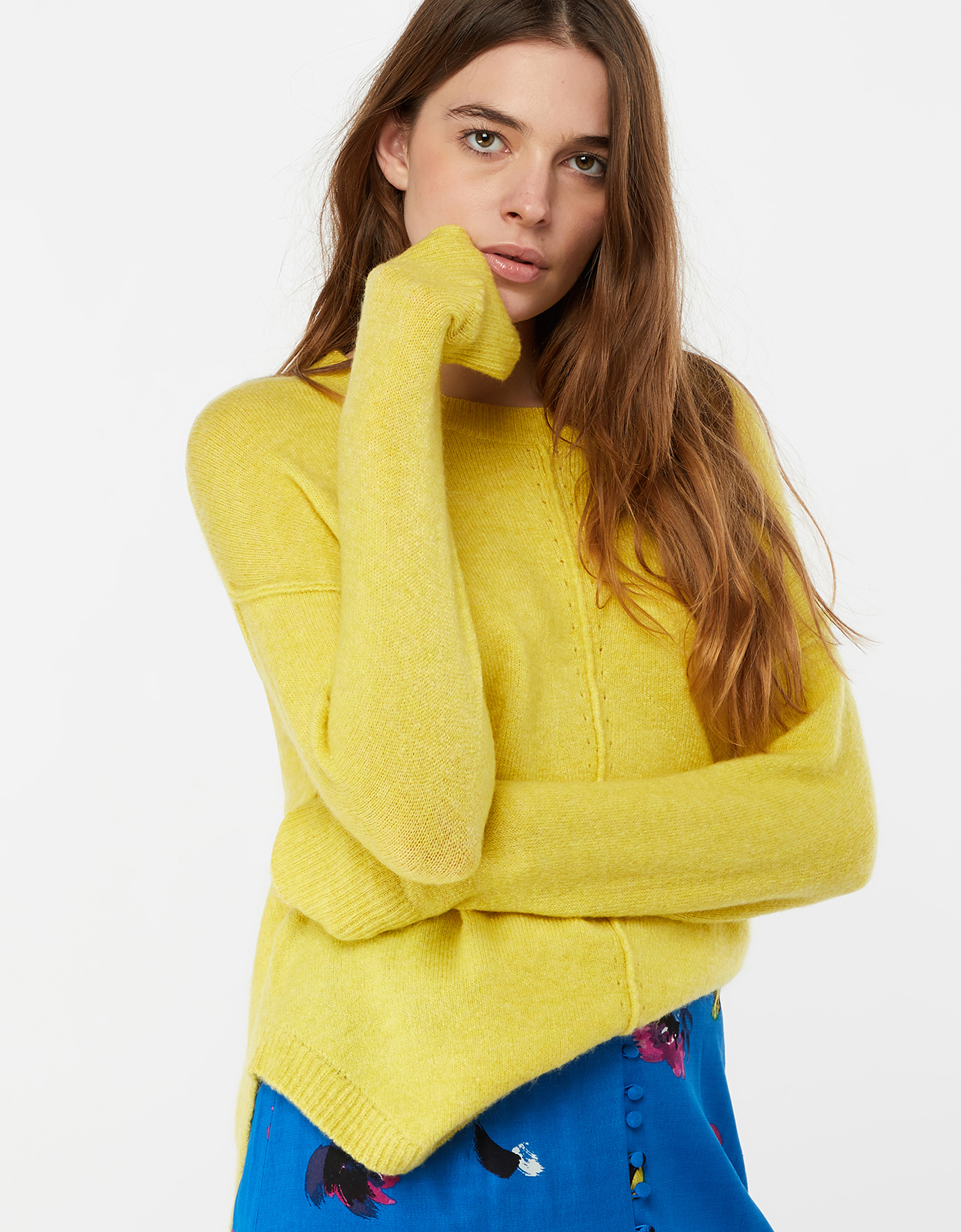 Monsoon Chelsea Curved Hem Crew Neck Jumper