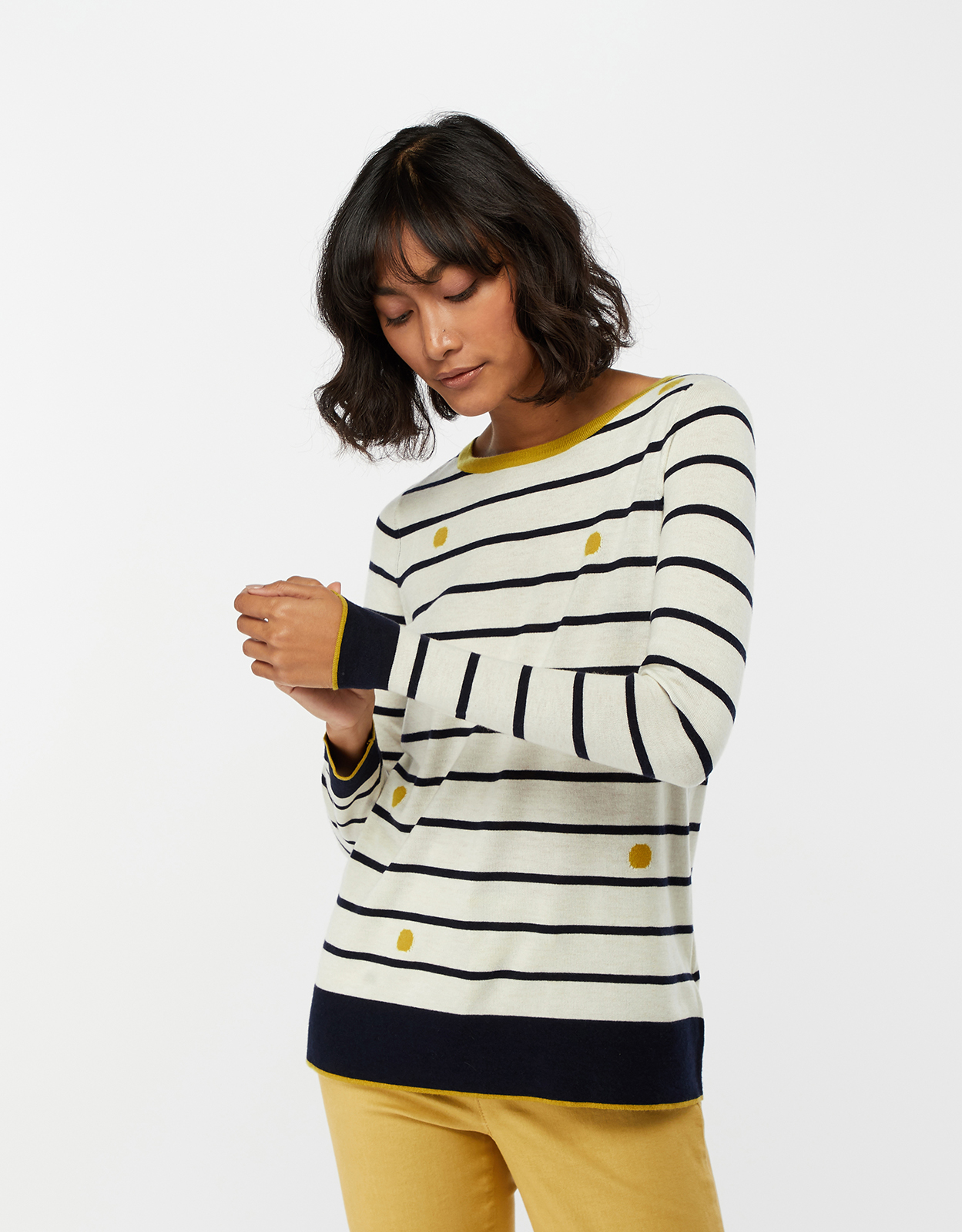 Monsoon Ronnie Spot & Stripe Jumper