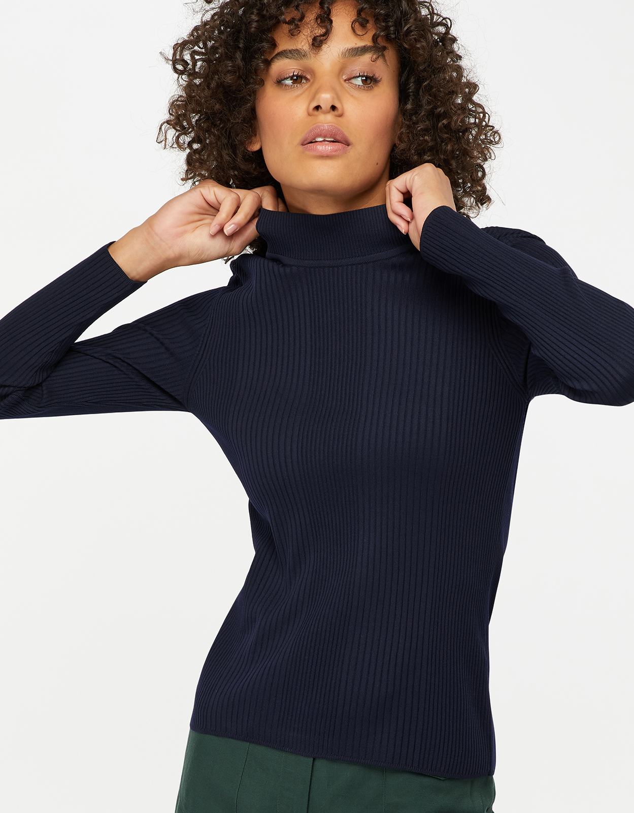 Monsoon Rita Ribbed Turtle Neck Jumper