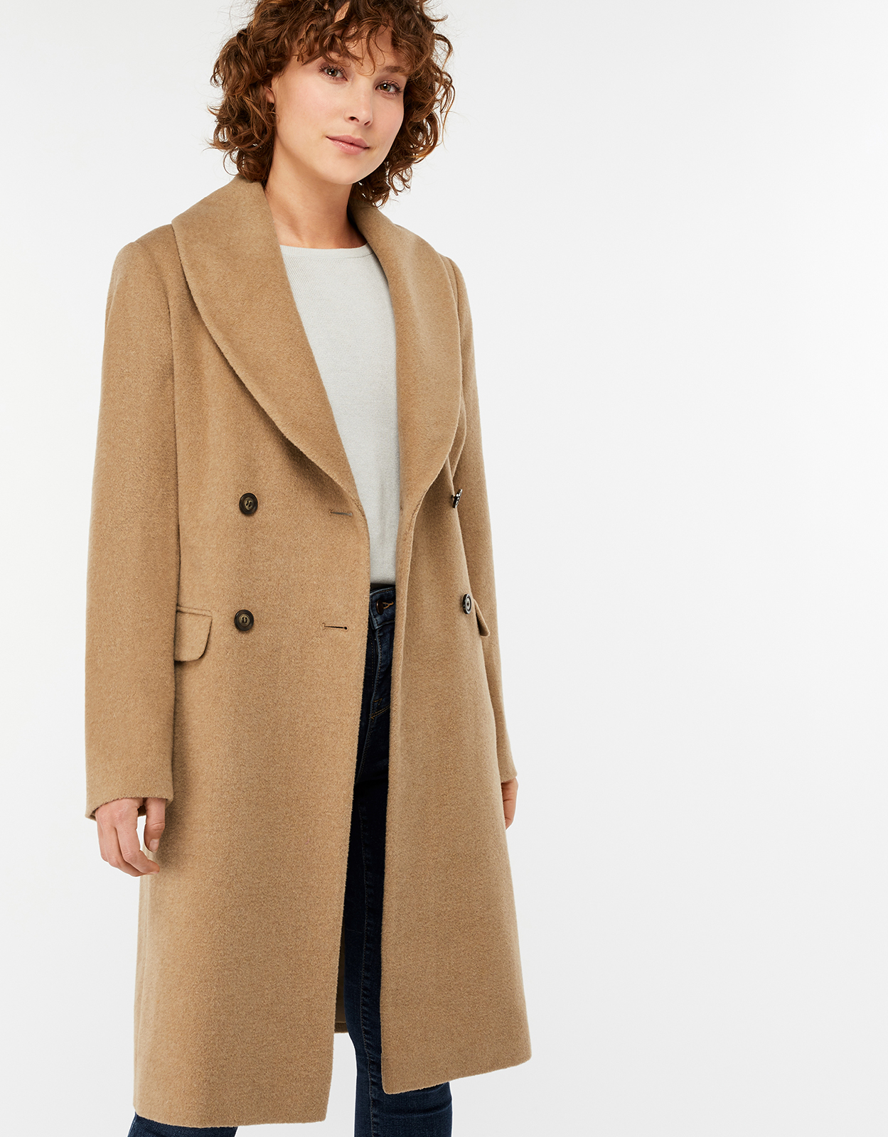 Monsoon Harry Wool Blend Crombie Coat