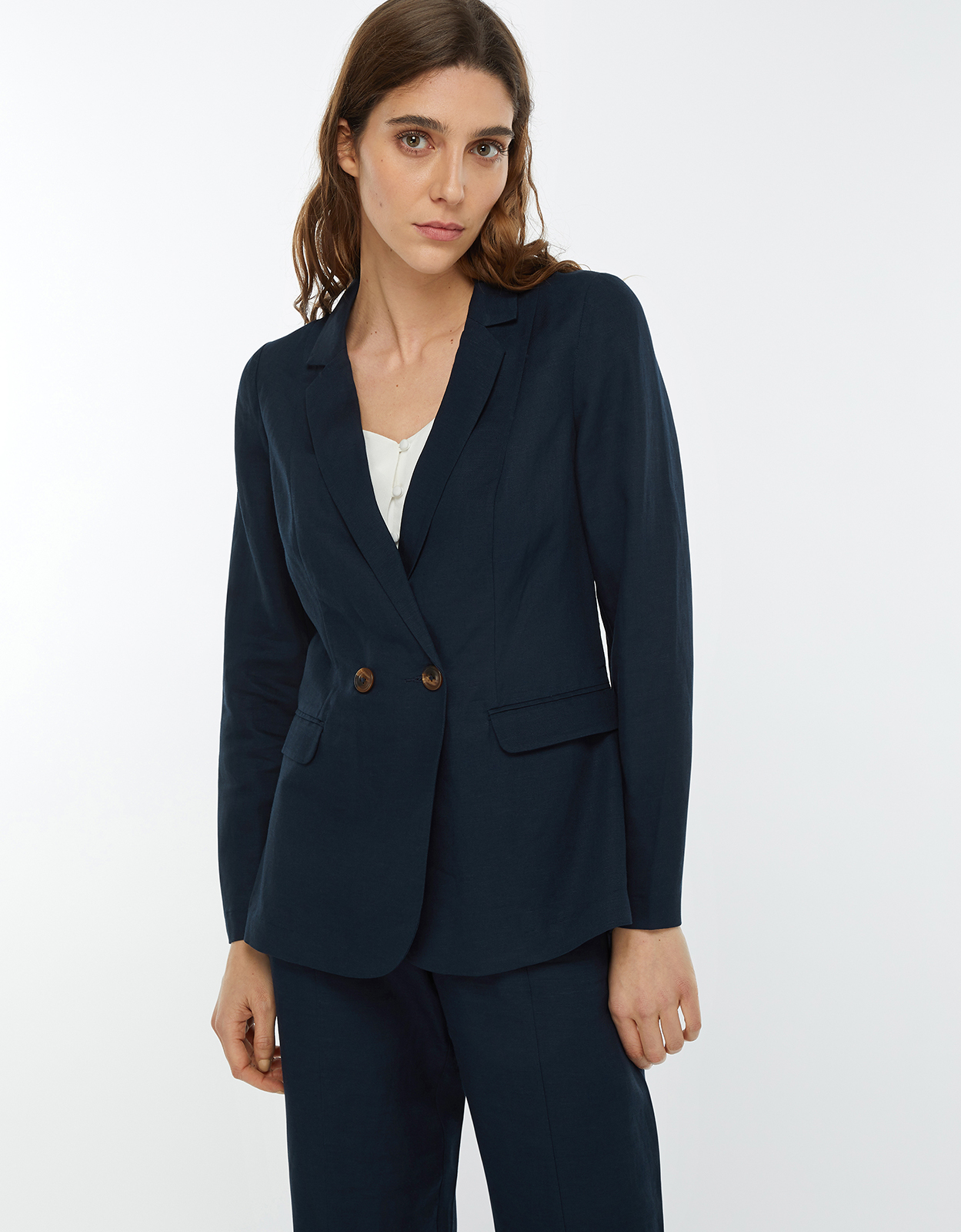 Monsoon Sarah Smart Linen Jacket