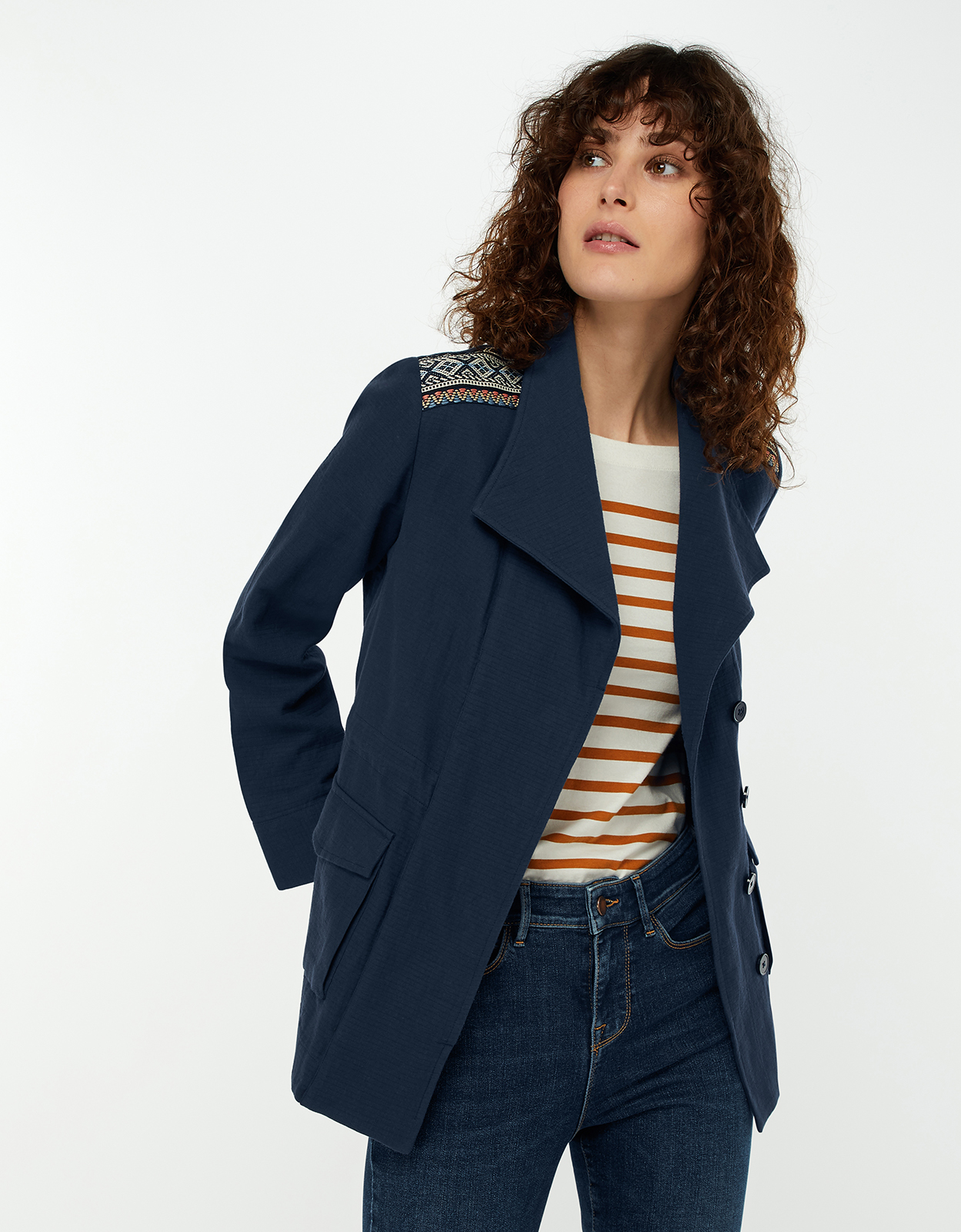 Monsoon Alessia Tape Detail Jacket