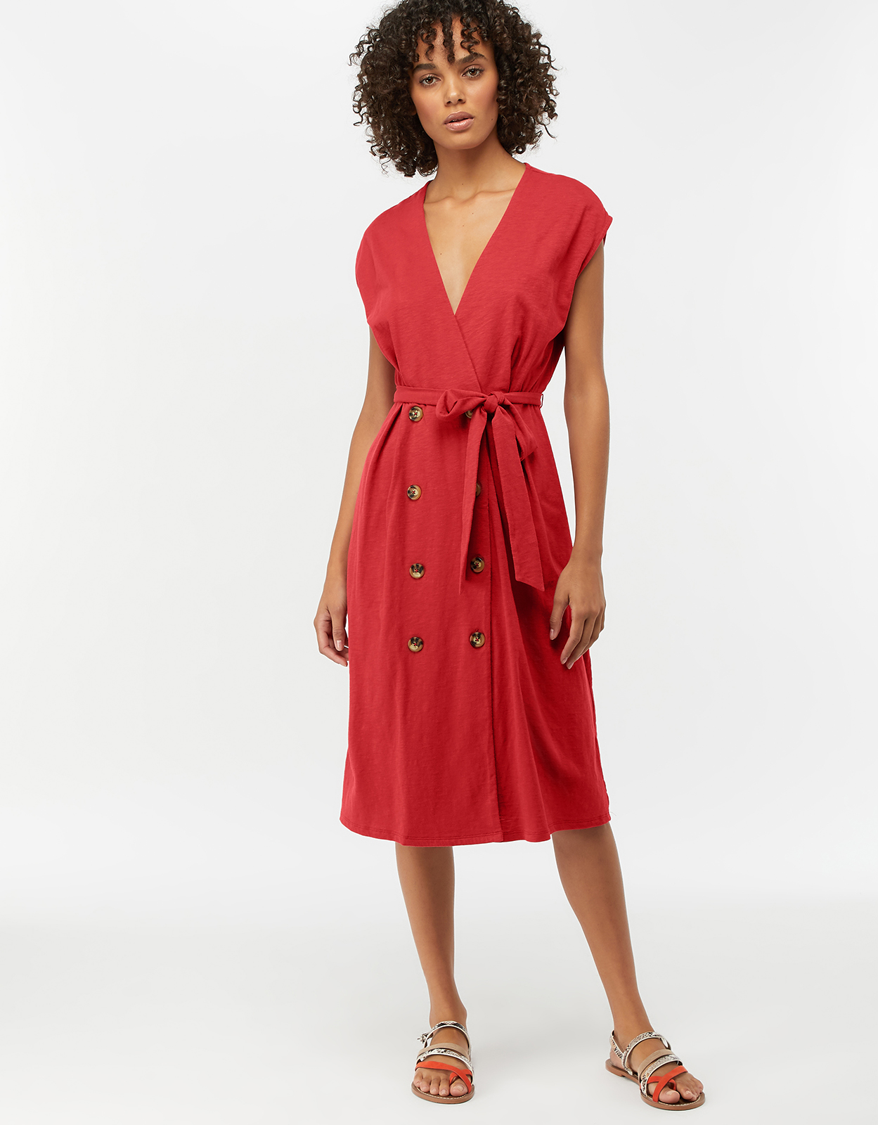 Monsoon Petra Double Breasted Button Dress
