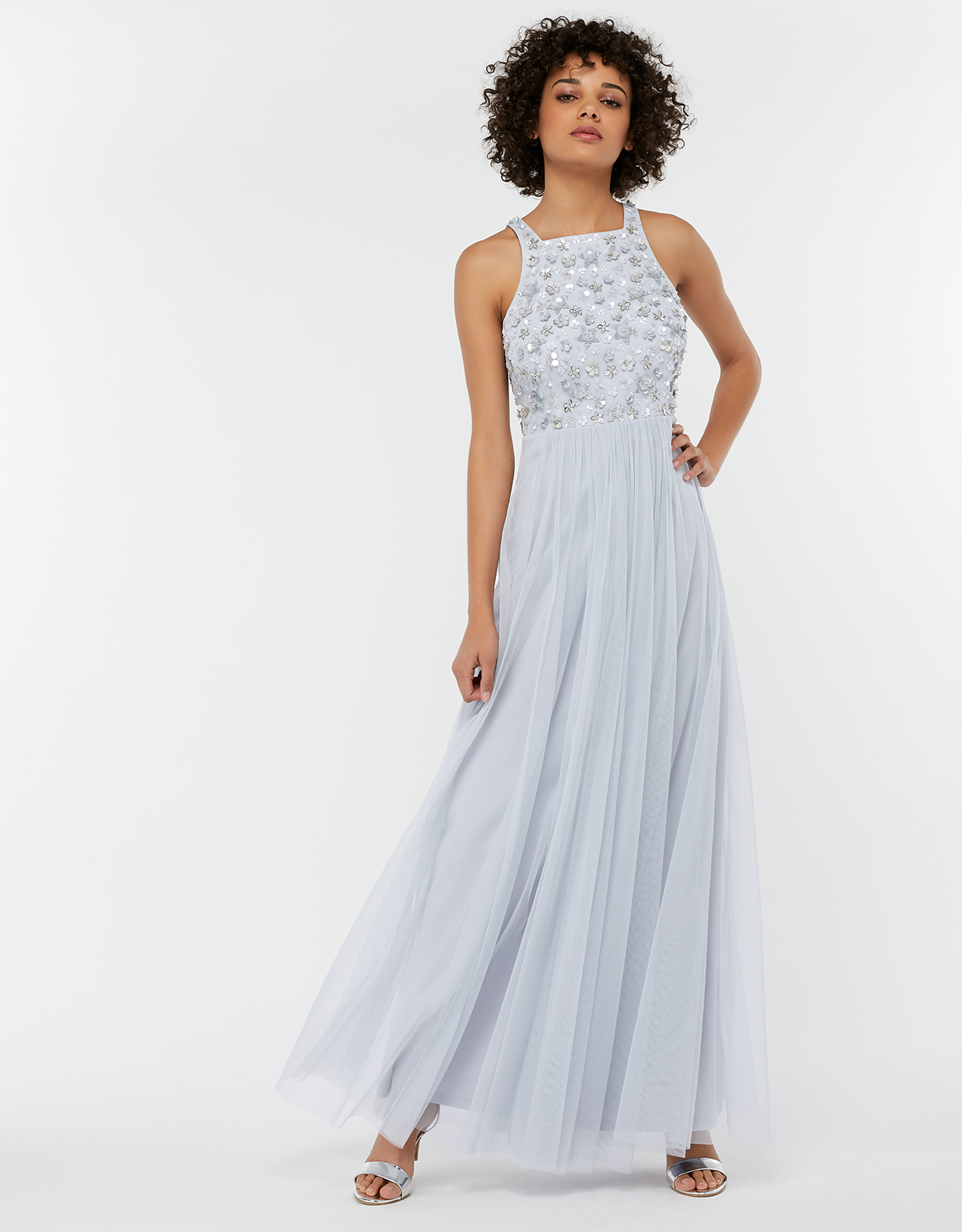 Monsoon Constance Sequin Embellished Maxi Bridesmaid Dress