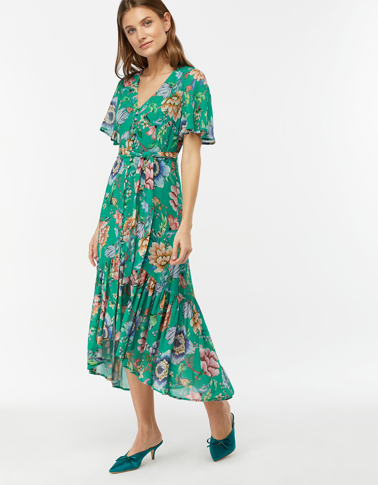 Monsoon Alba Print Tea Dress