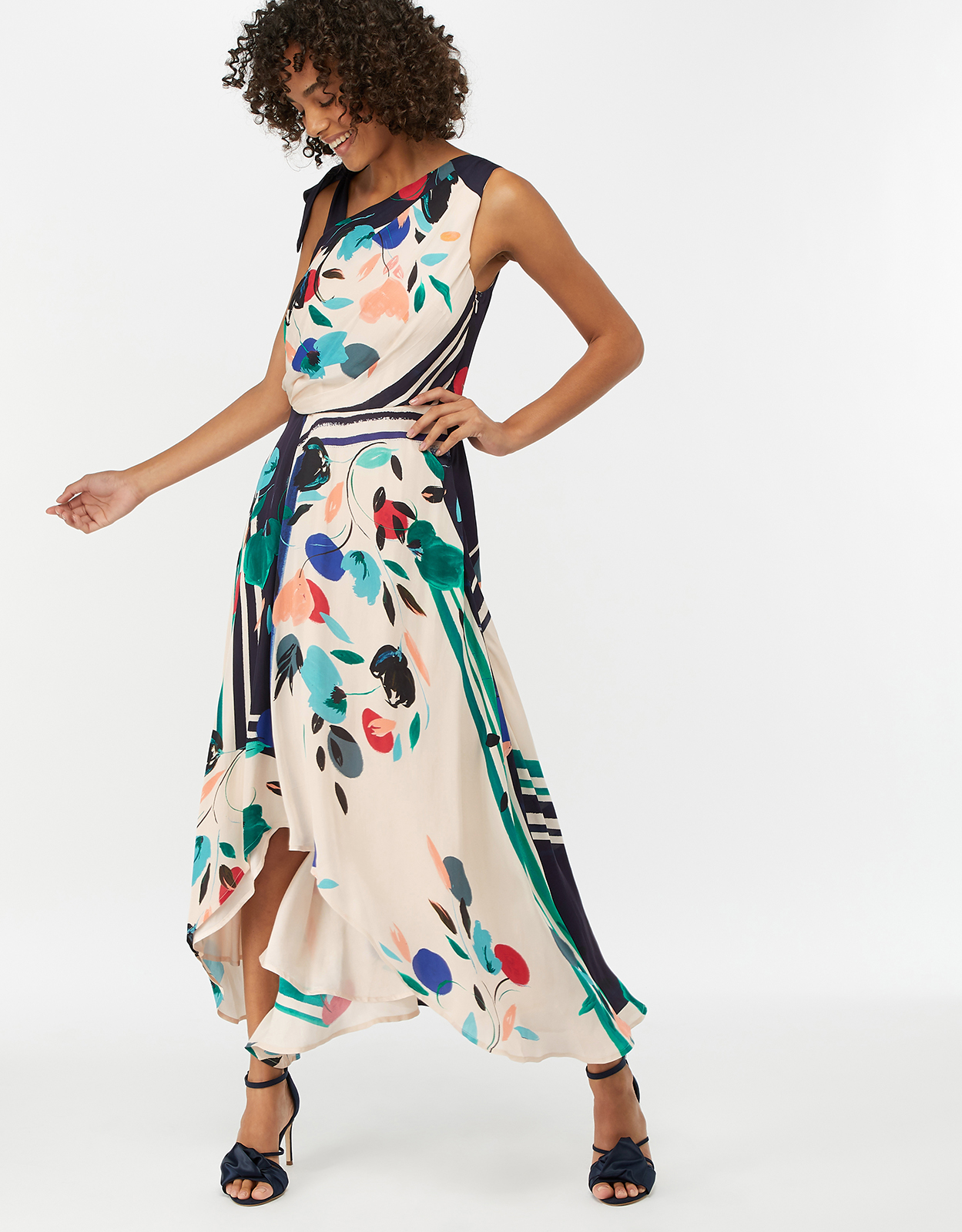 Monsoon Suki Print Midi Dress