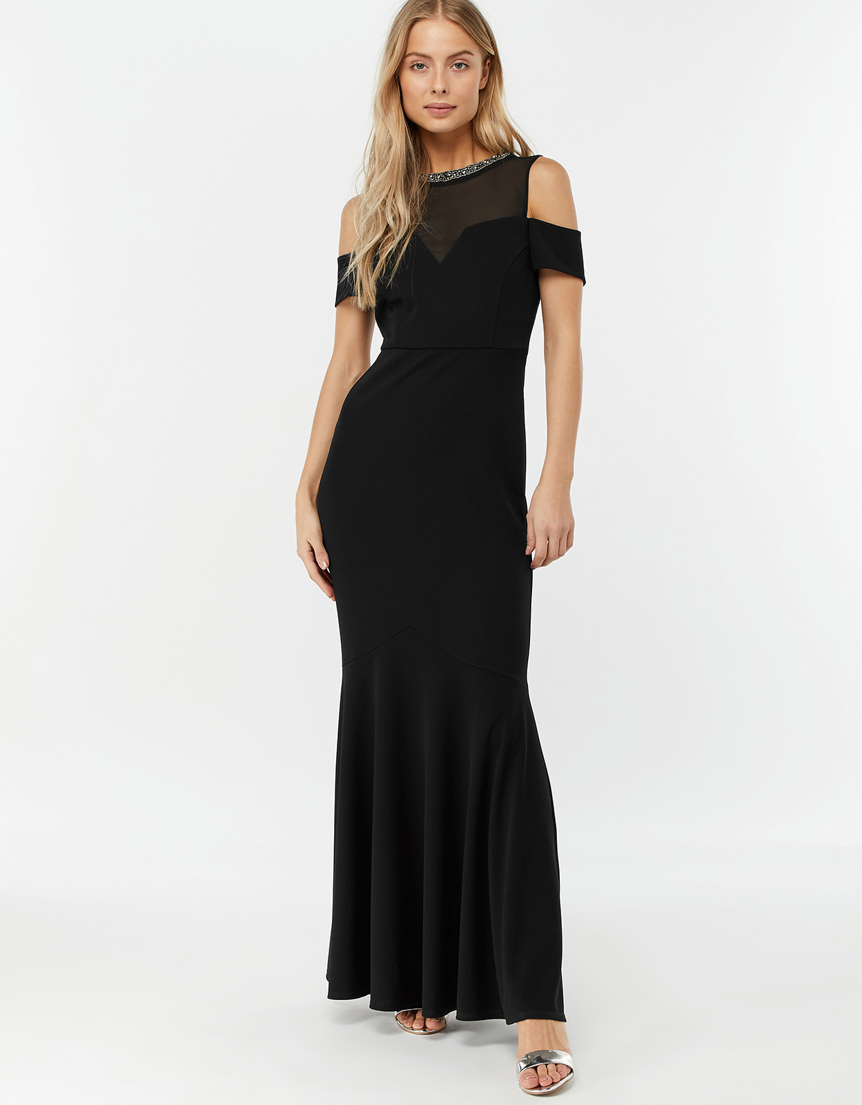 Monsoon Matilda Crepe Shorter Length Maxi Dress