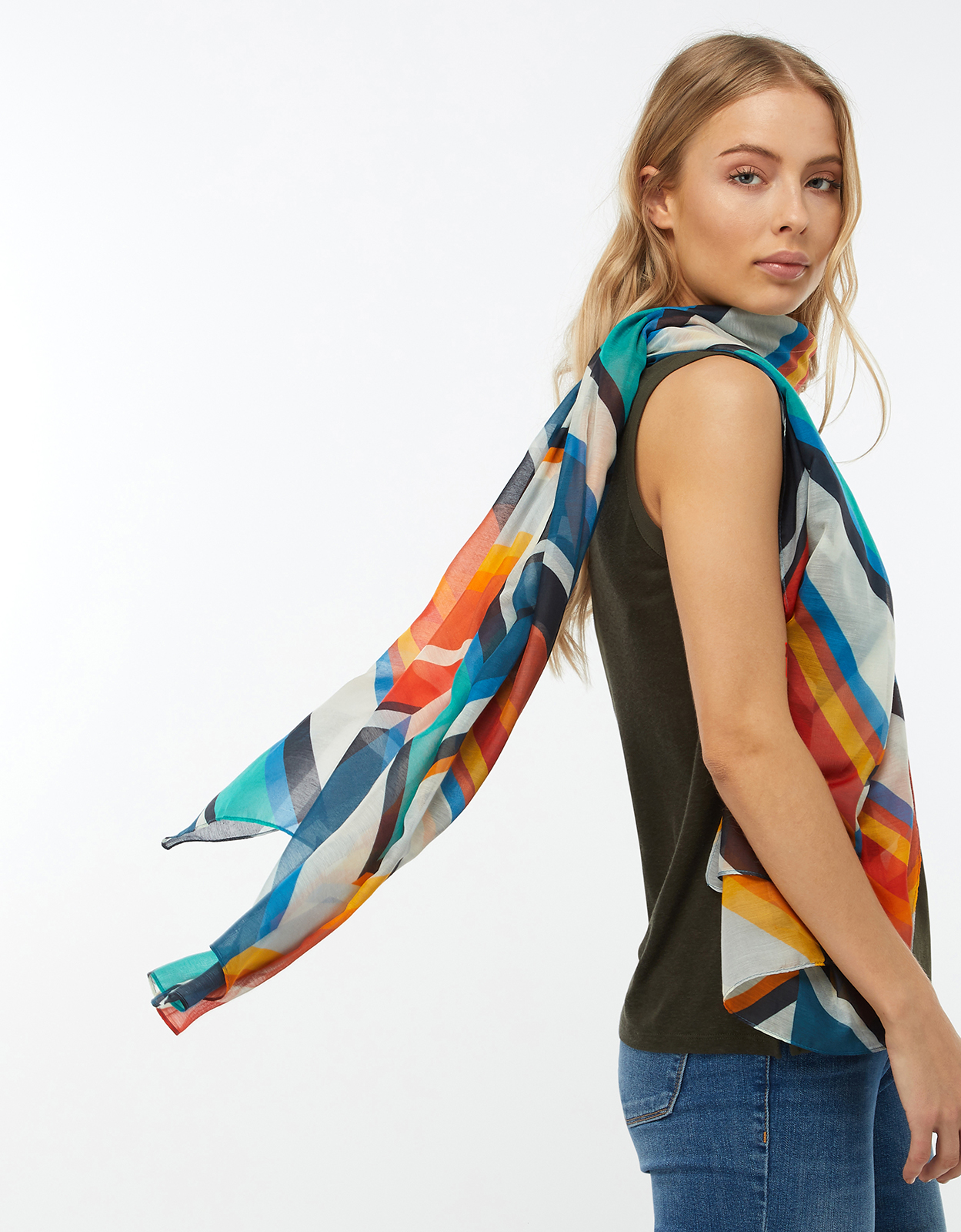 Monsoon Ava Chevron Stripe Super Soft Scarf